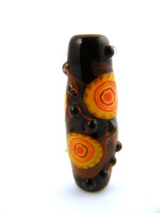 Lampwork glass murrine bead by Sheila Morley
